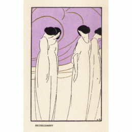 Schaal mat glas modernistisch Frans Art Deco jaren 30