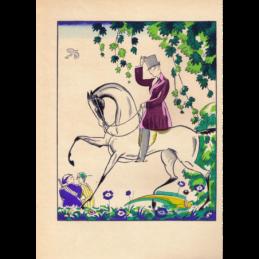 Schaal mosgroen Luxval Belgisch Art Deco jaren 30